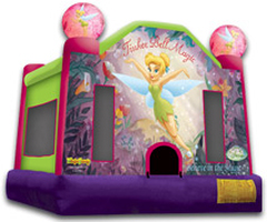 Tinker Bell Themed Bouncer Rental